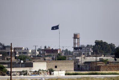 ISIS flag in Syria's Tel Abyad