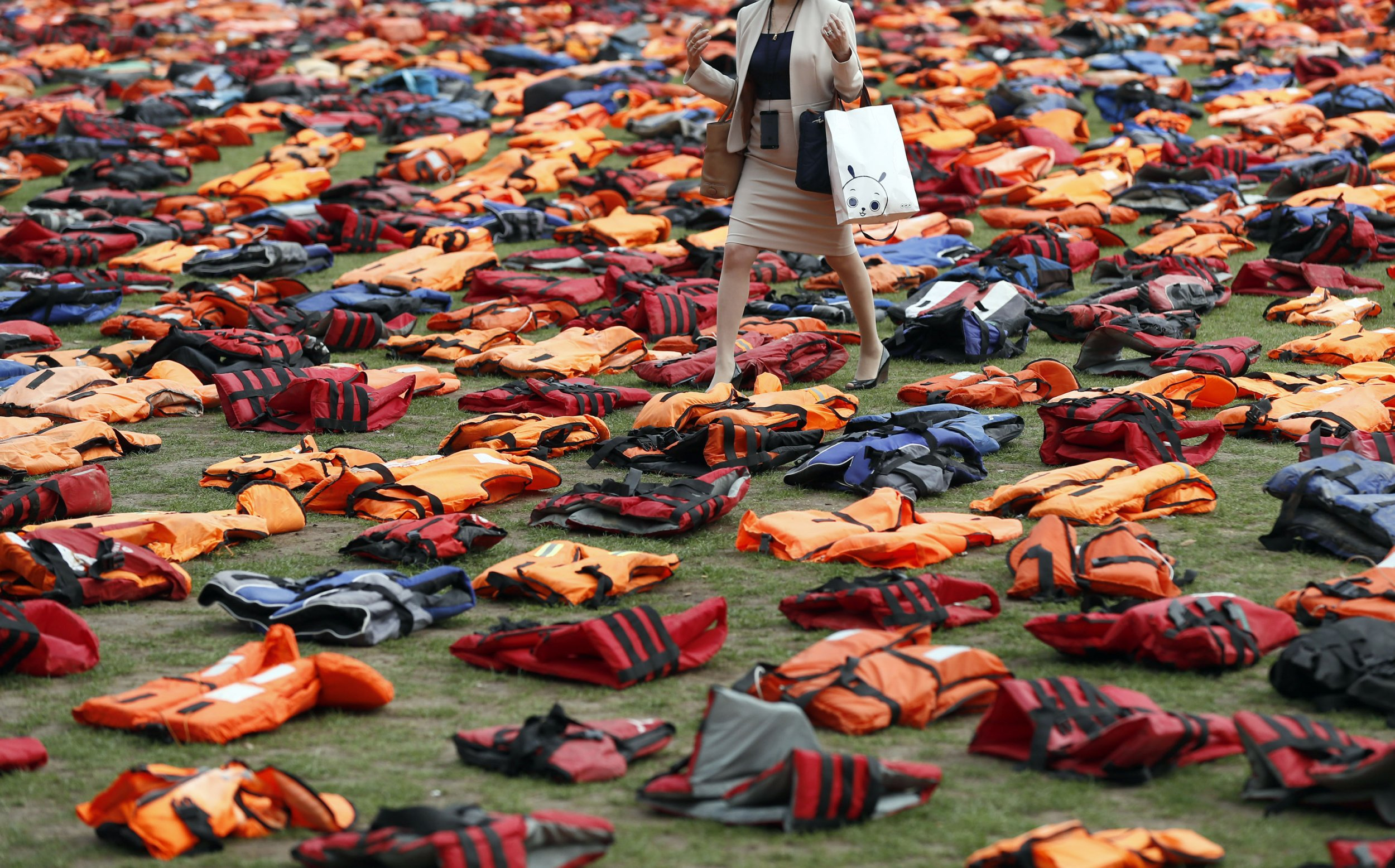 Migrants' lifejackets