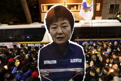 Park Geun-hye rally