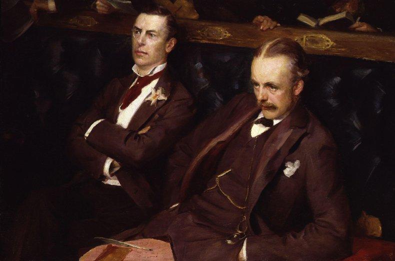 Joseph_('Joe')_Chamberlain;_Arthur_James_Balfour,_1st_Earl_of_Balfour_by_Sydney_Prior_Hall
