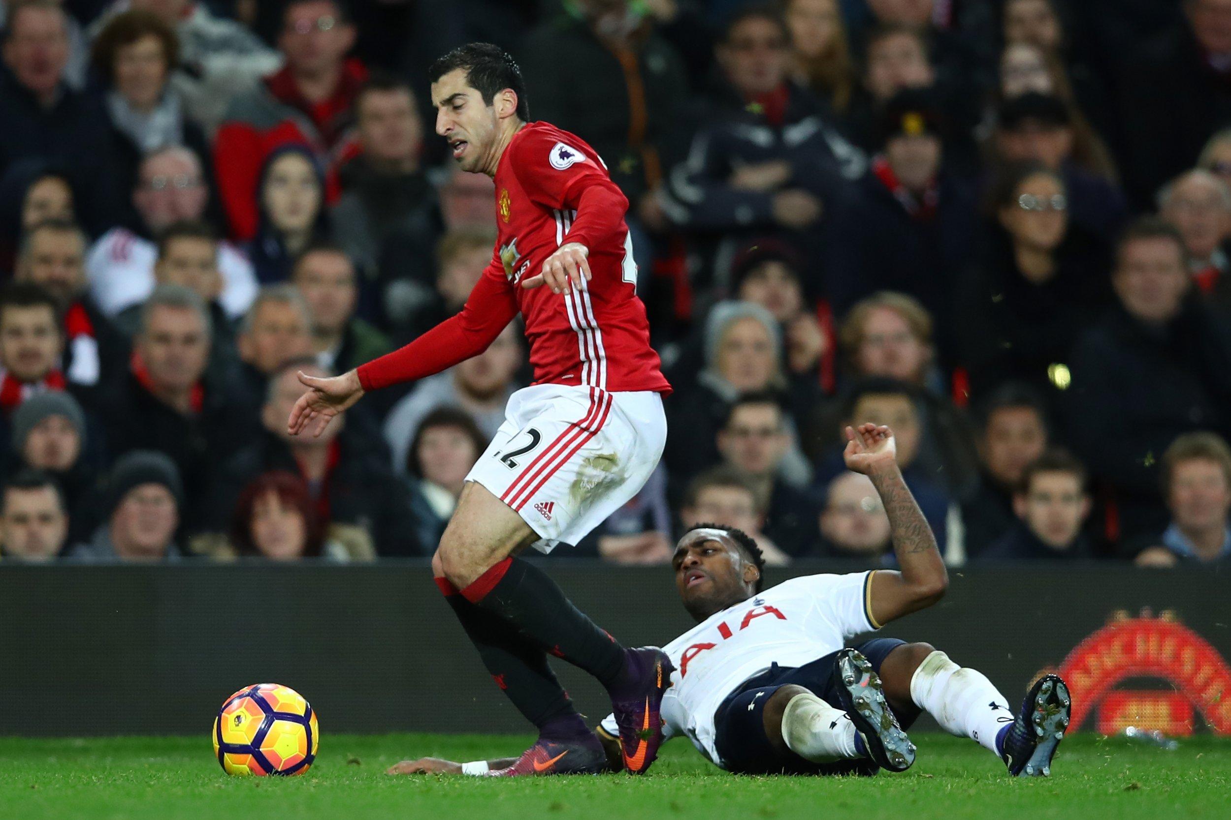 Manchester United midfielder Henrikh Mkhitaryan