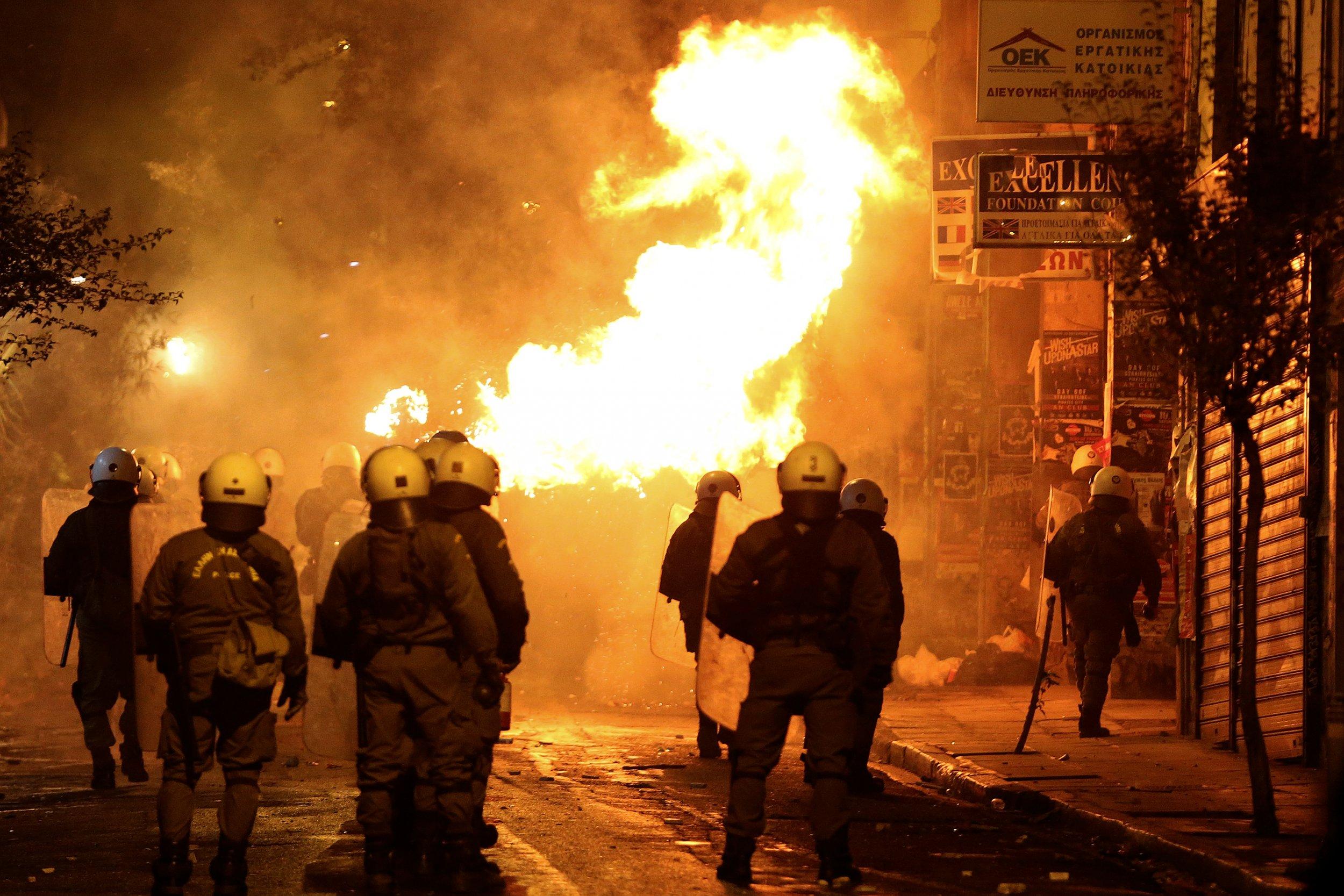 Athens petrol bomb