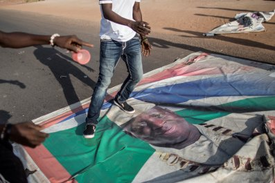 Gambia election demonstration