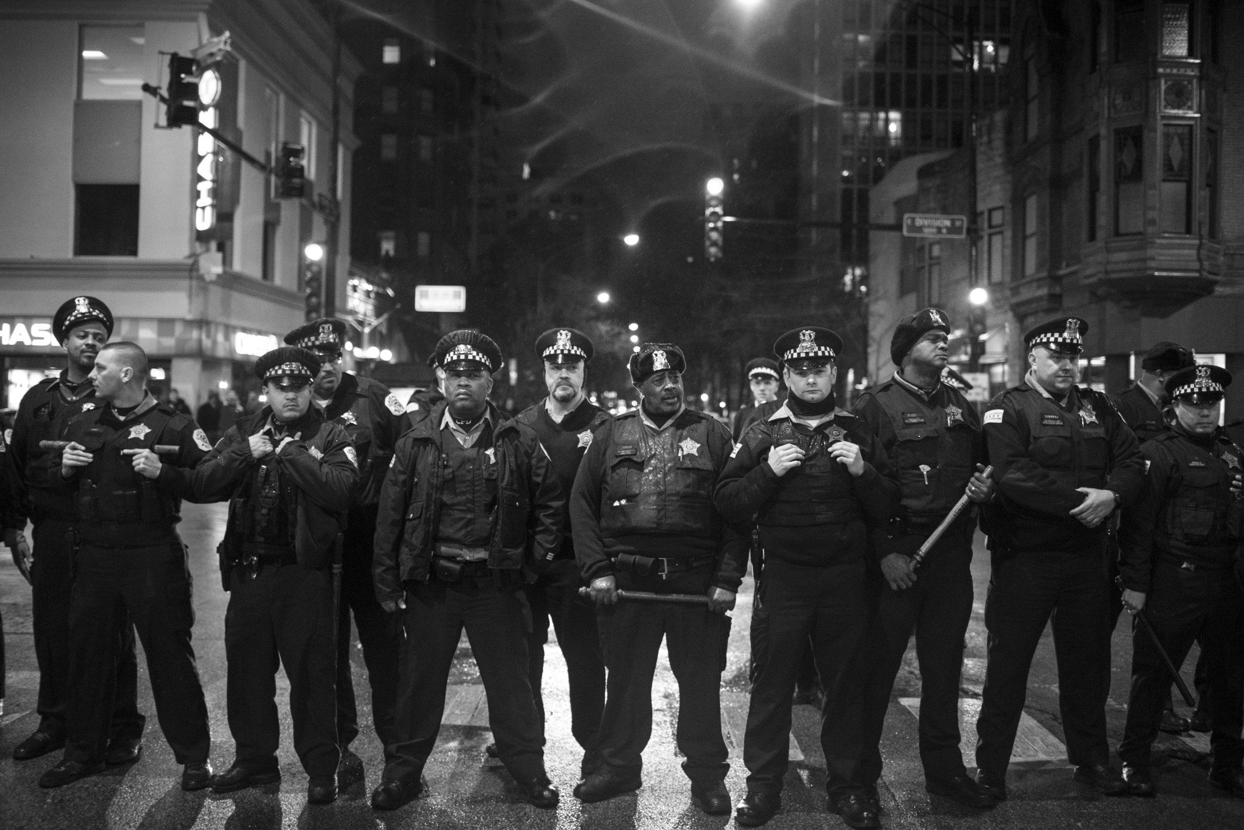 Italian police gang bang all