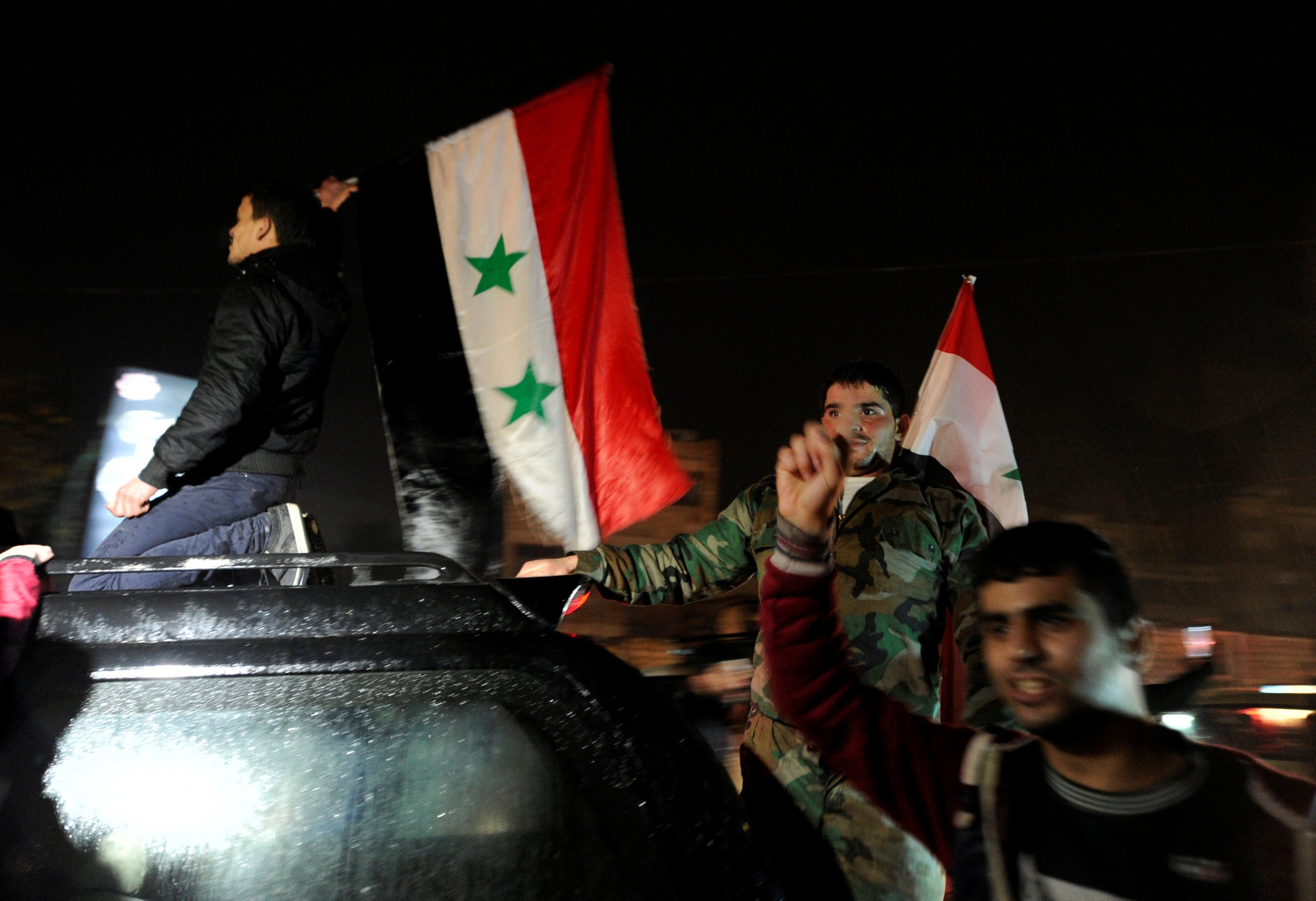 Aleppo Assad supporters
