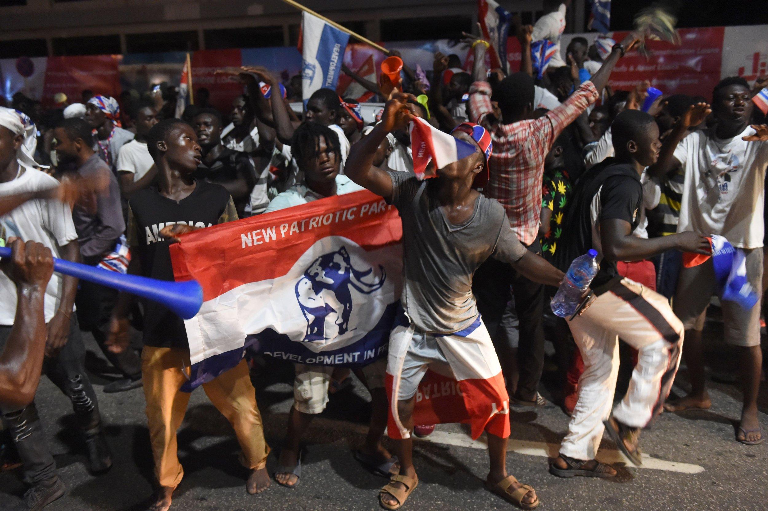Ghana supporters celebrate