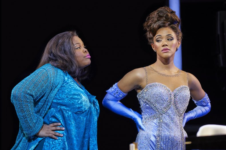 Amber Riley and Lily Frazer in Dreamgirls