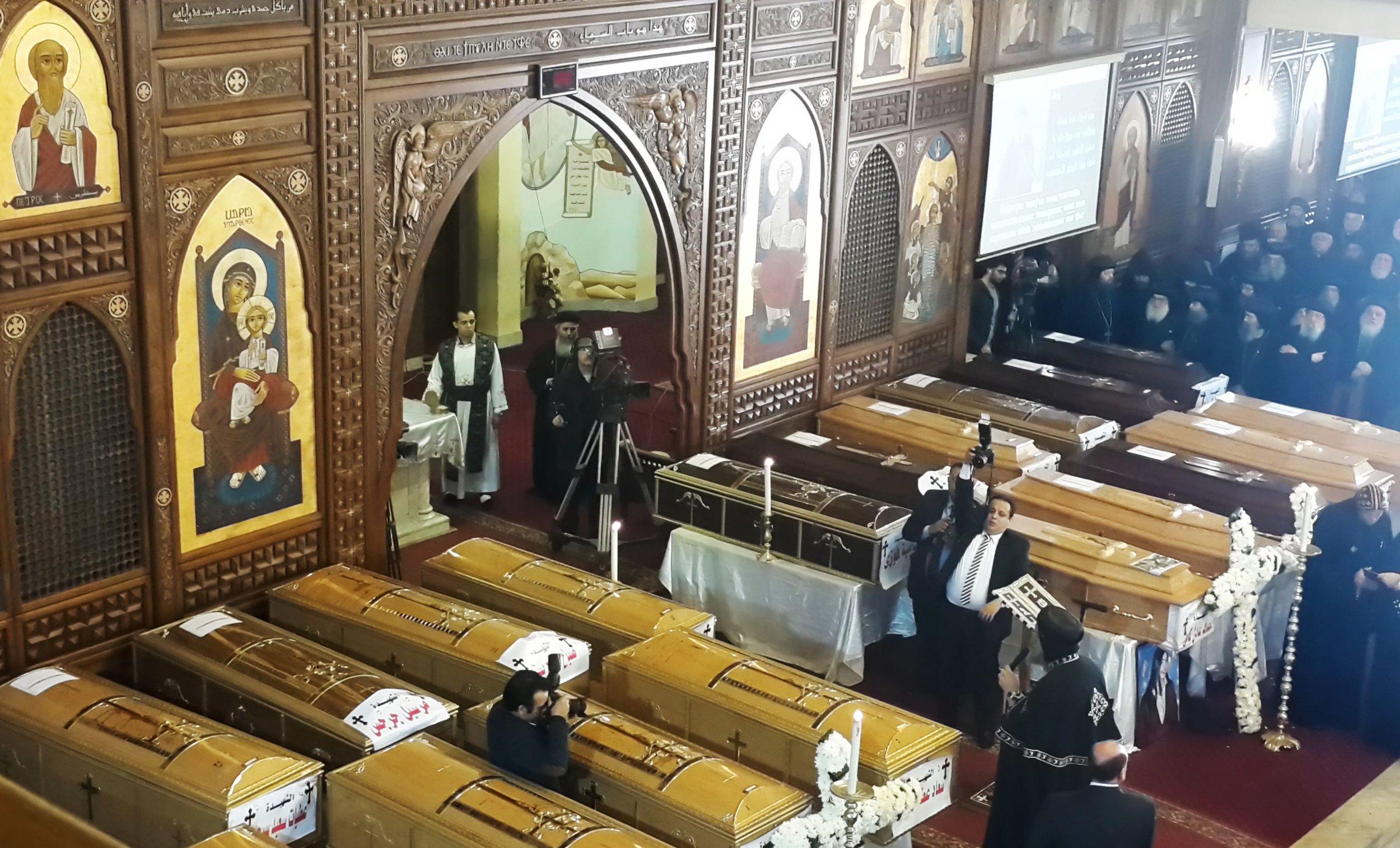 Cairo church bombing funeral