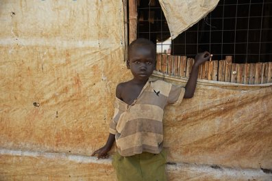 South Sudan child refugee