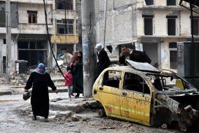 Aleppo residents