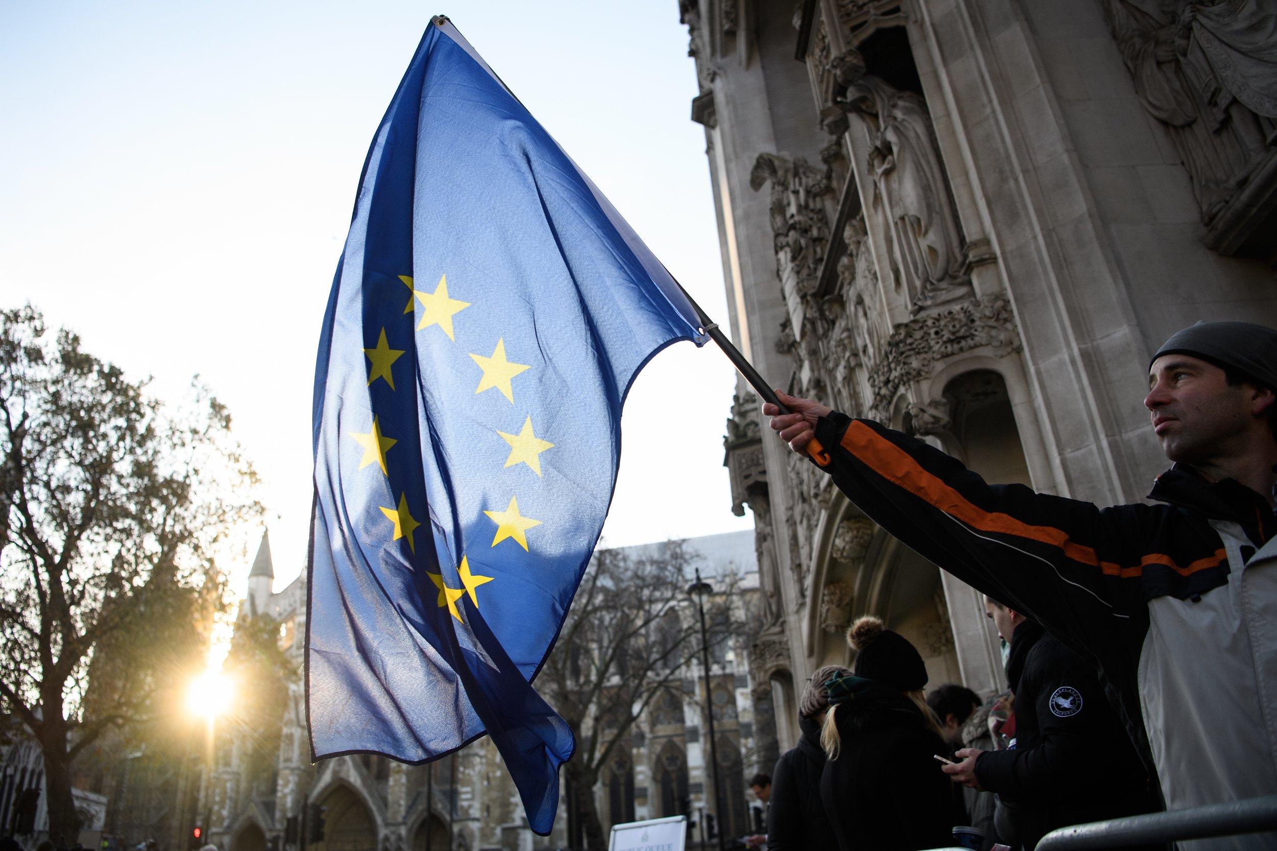 Brexit EU flag Supreme Court