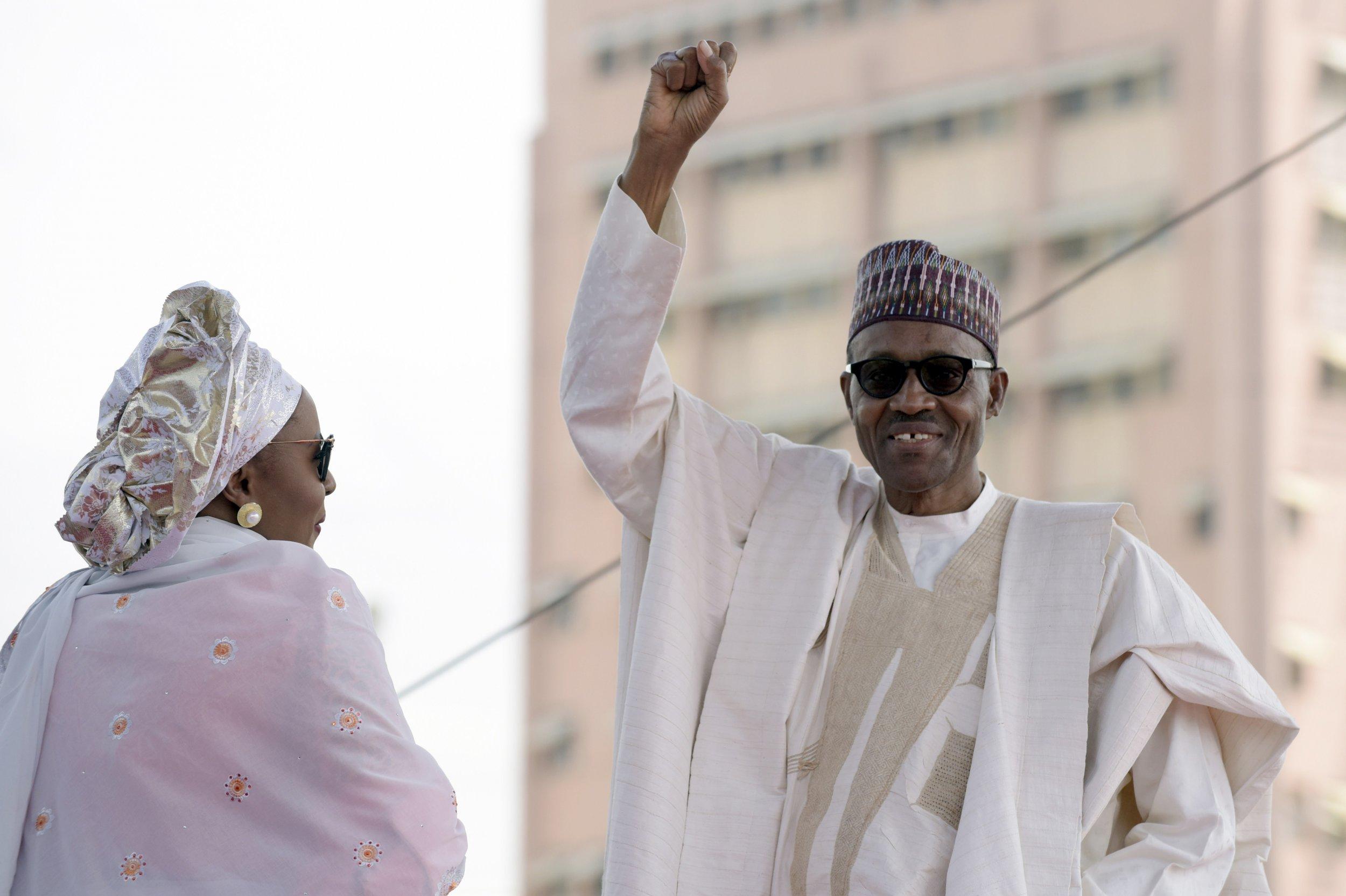 Muhammadu and Aisha Buhari