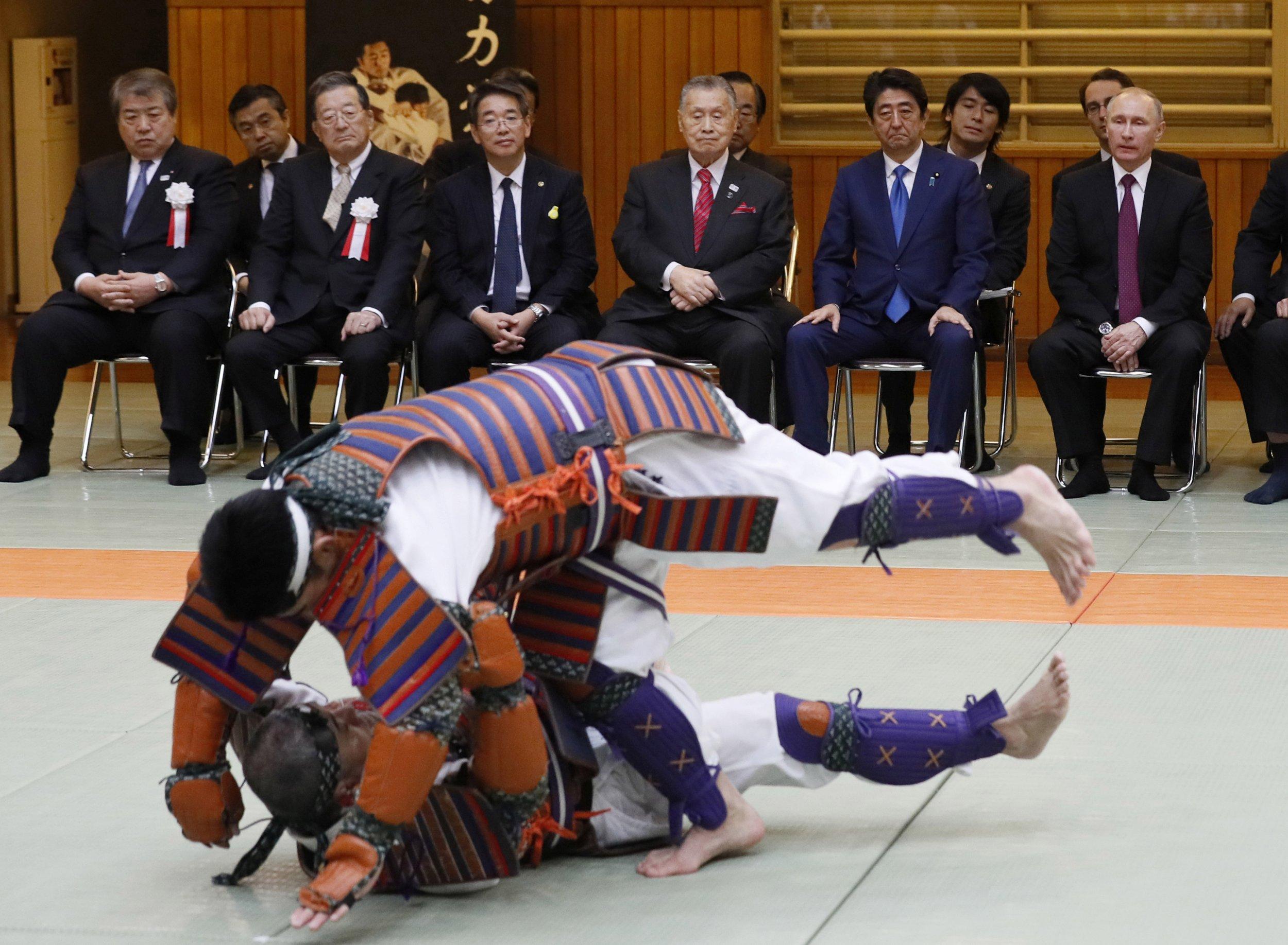 Putin and Abe in Kodokan