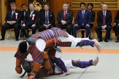 Putin and Abe in Kodokan