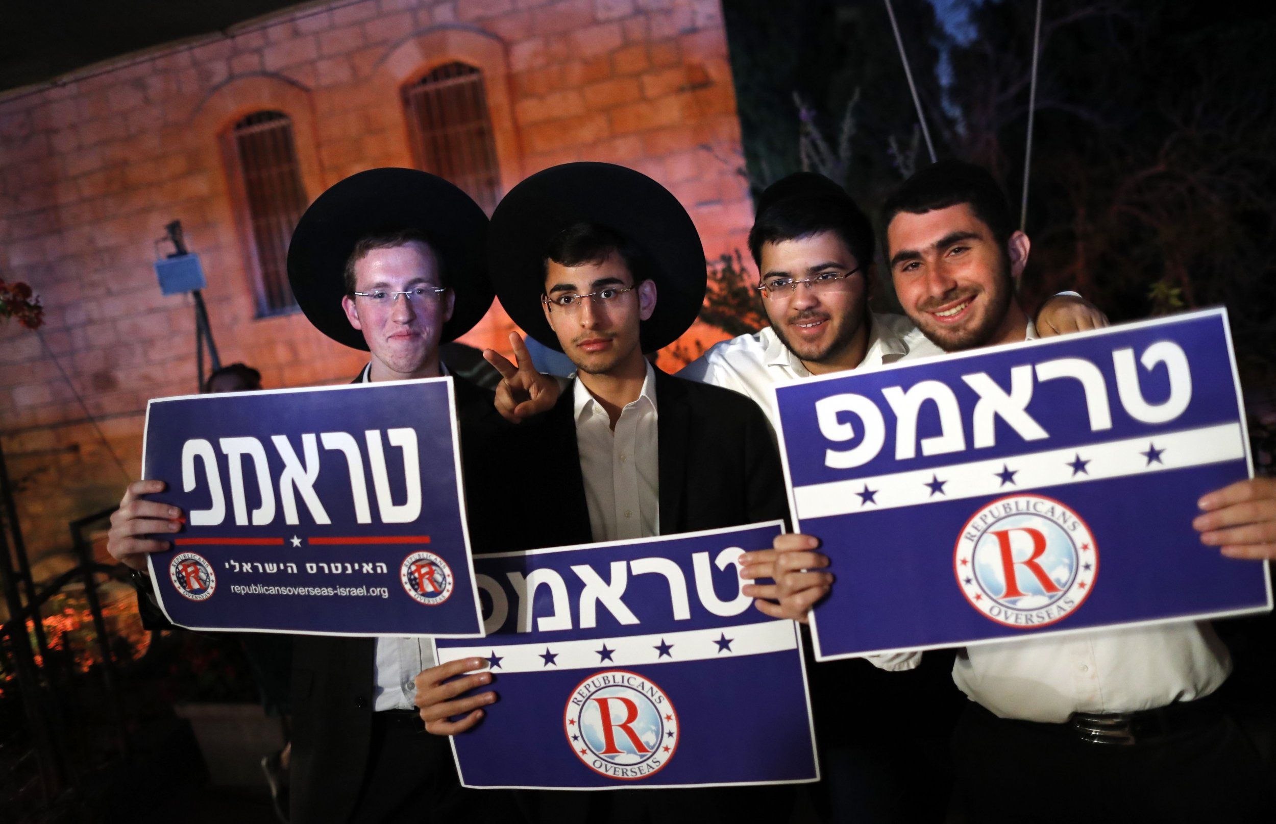 Trump supporters in Israel