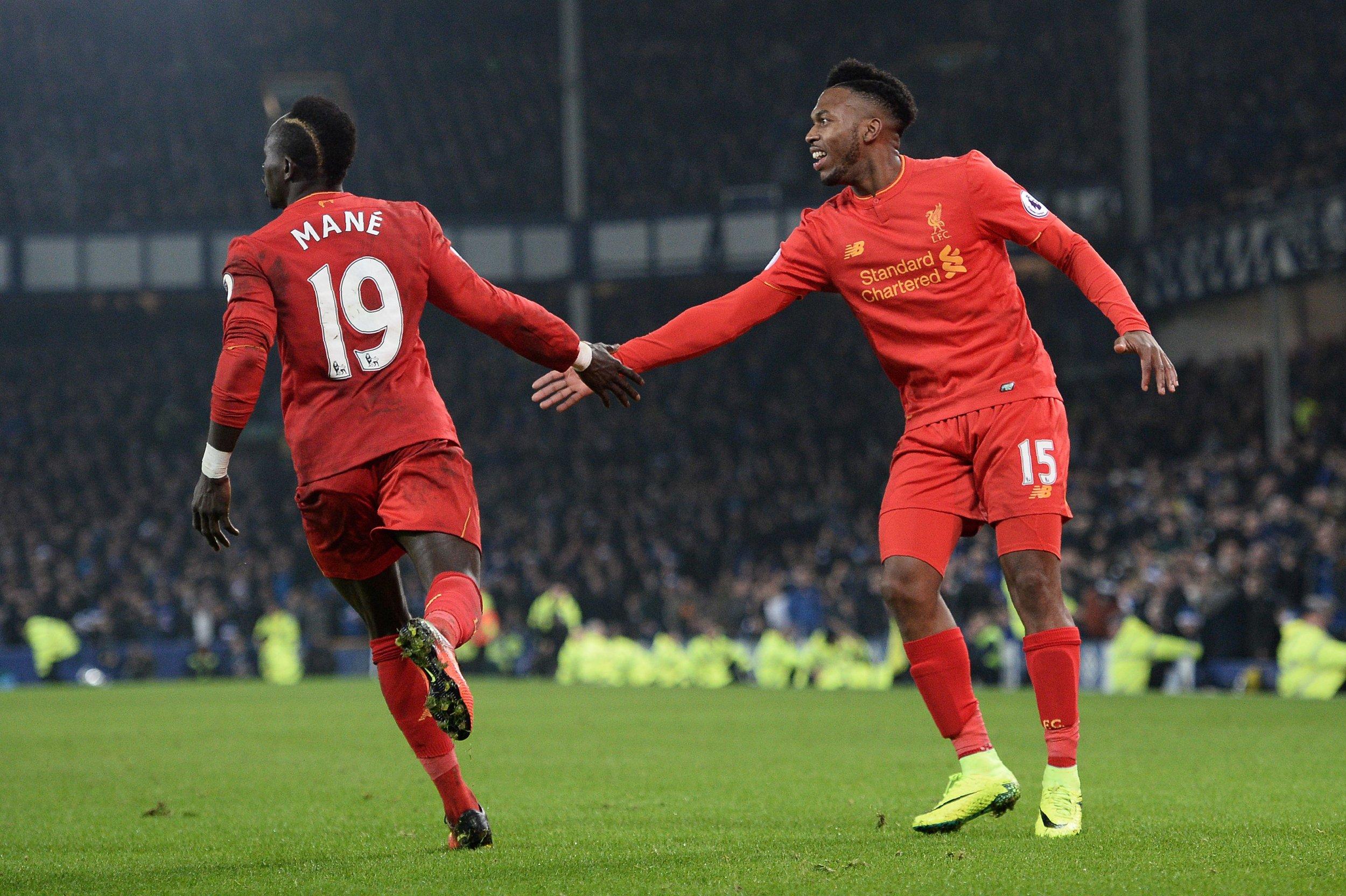 Liverpool striker Daniel Sturridge, right.