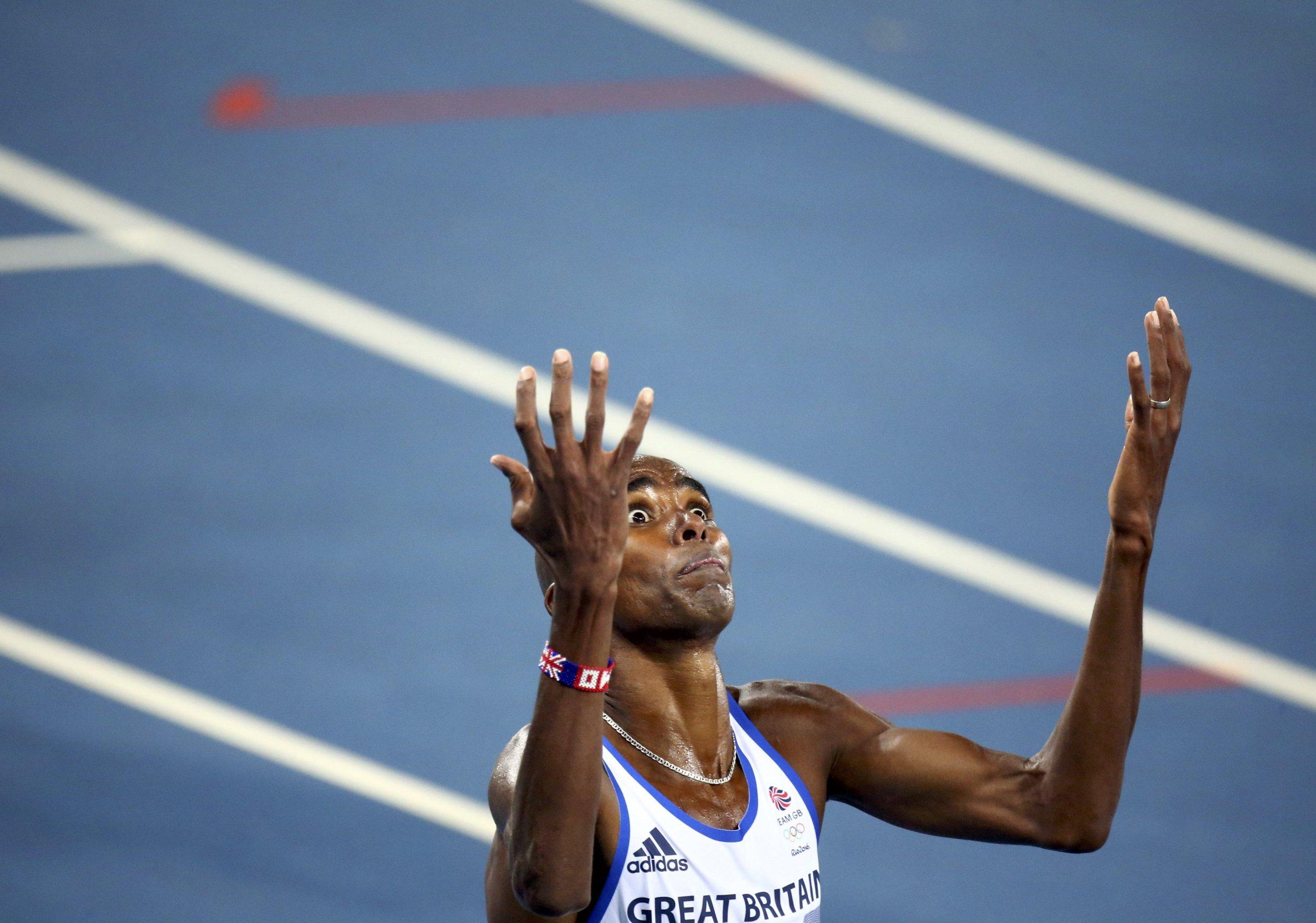 Quadruple Olympic champion Mo Farah.