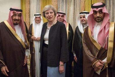 Theresa May Saudi king