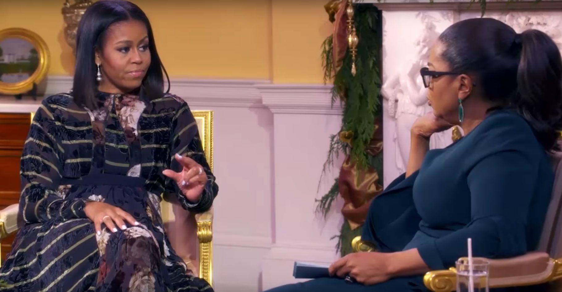 Michelle Obama talks to Oprah