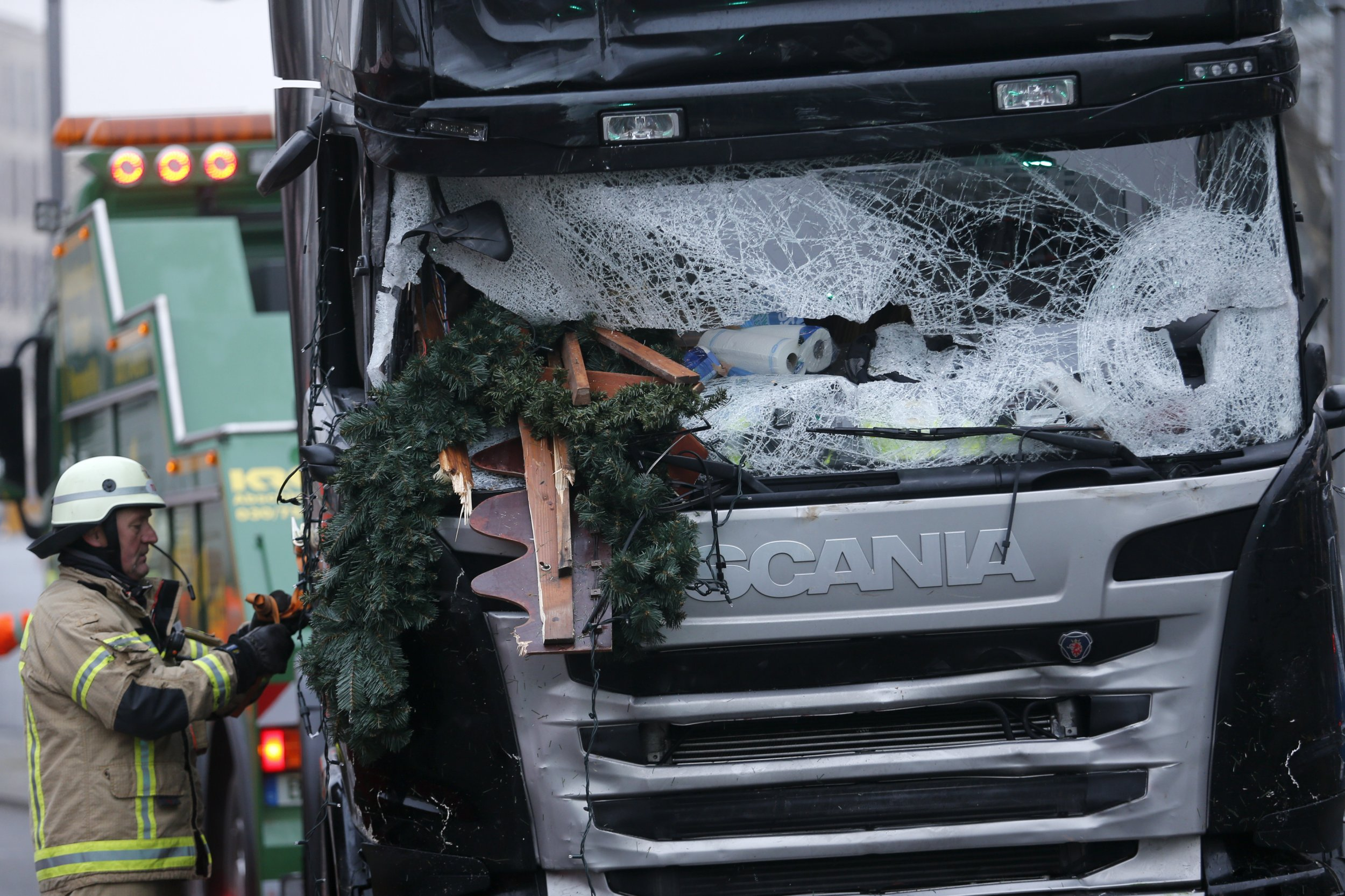 The lorry used in the Berlin Christmas market attack