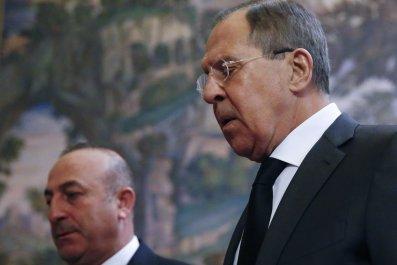 Turkish FM Cavusoglu and Russia's Lavrov