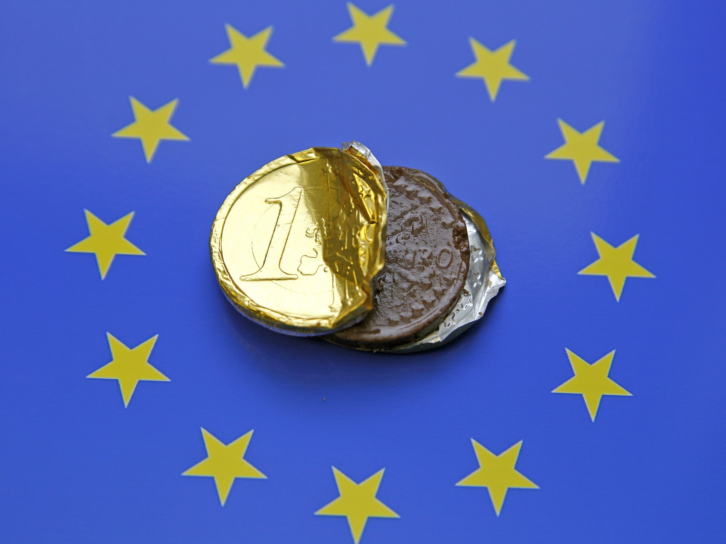 Euro chocolate coin