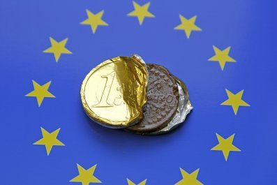 Euro chocolate coin