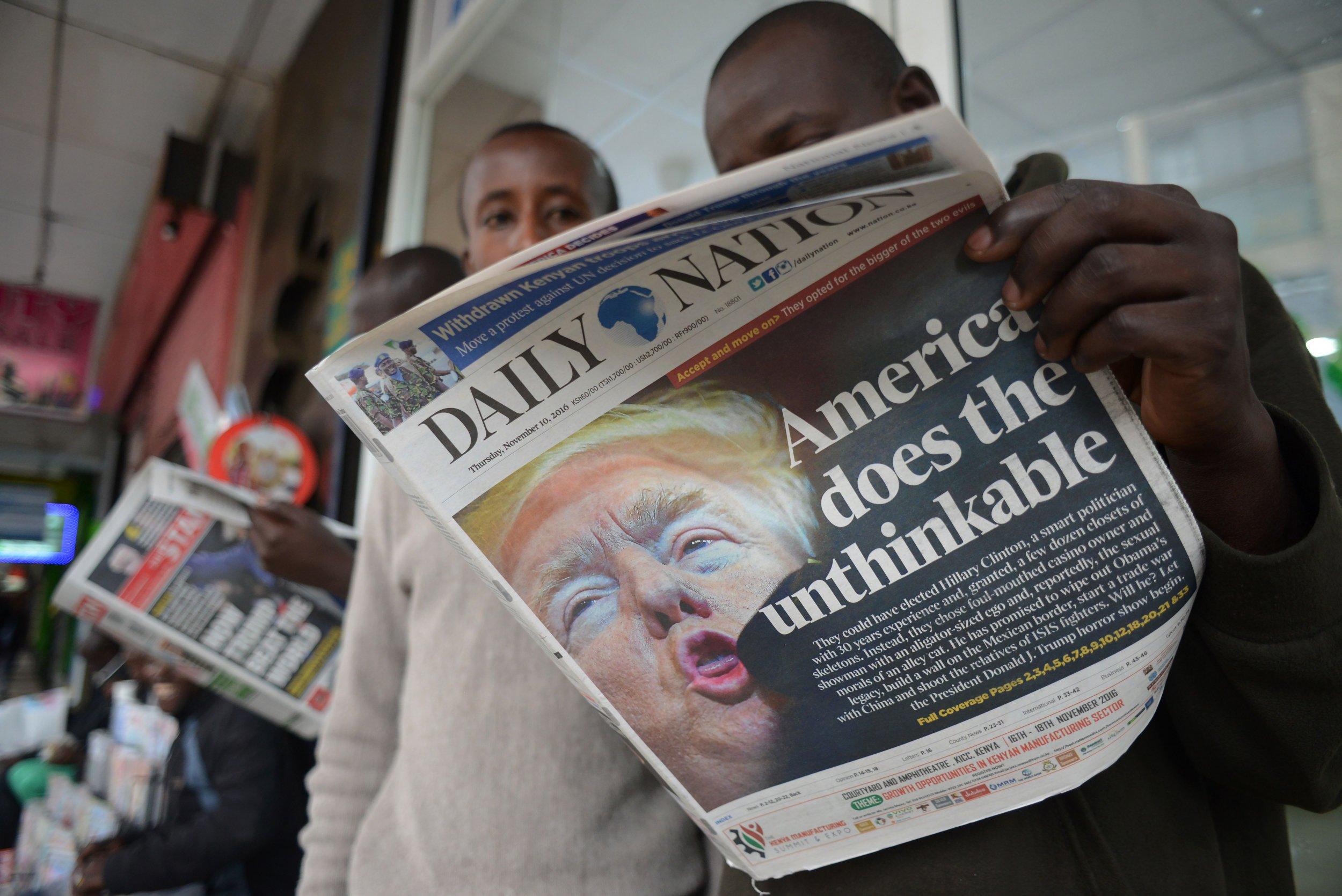 Trump newspaper Kenya