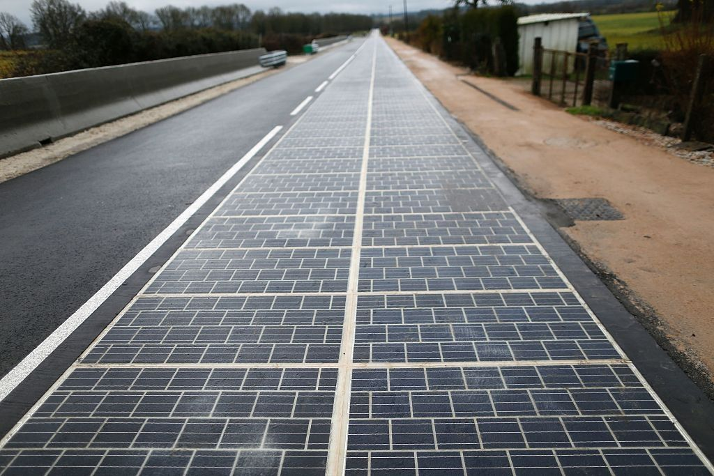 solar road france renewable energy