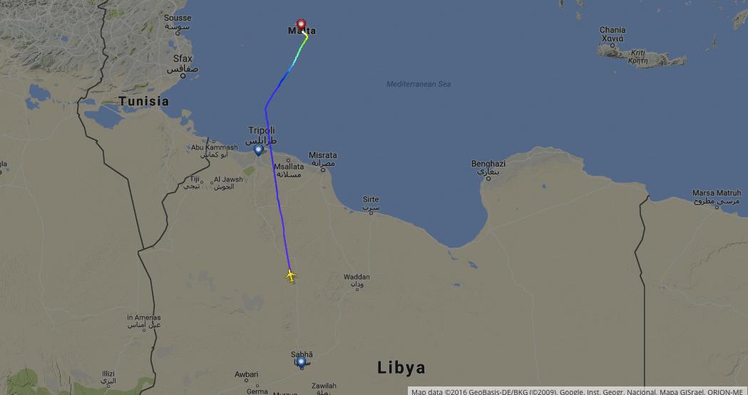 AAW209 Flight path