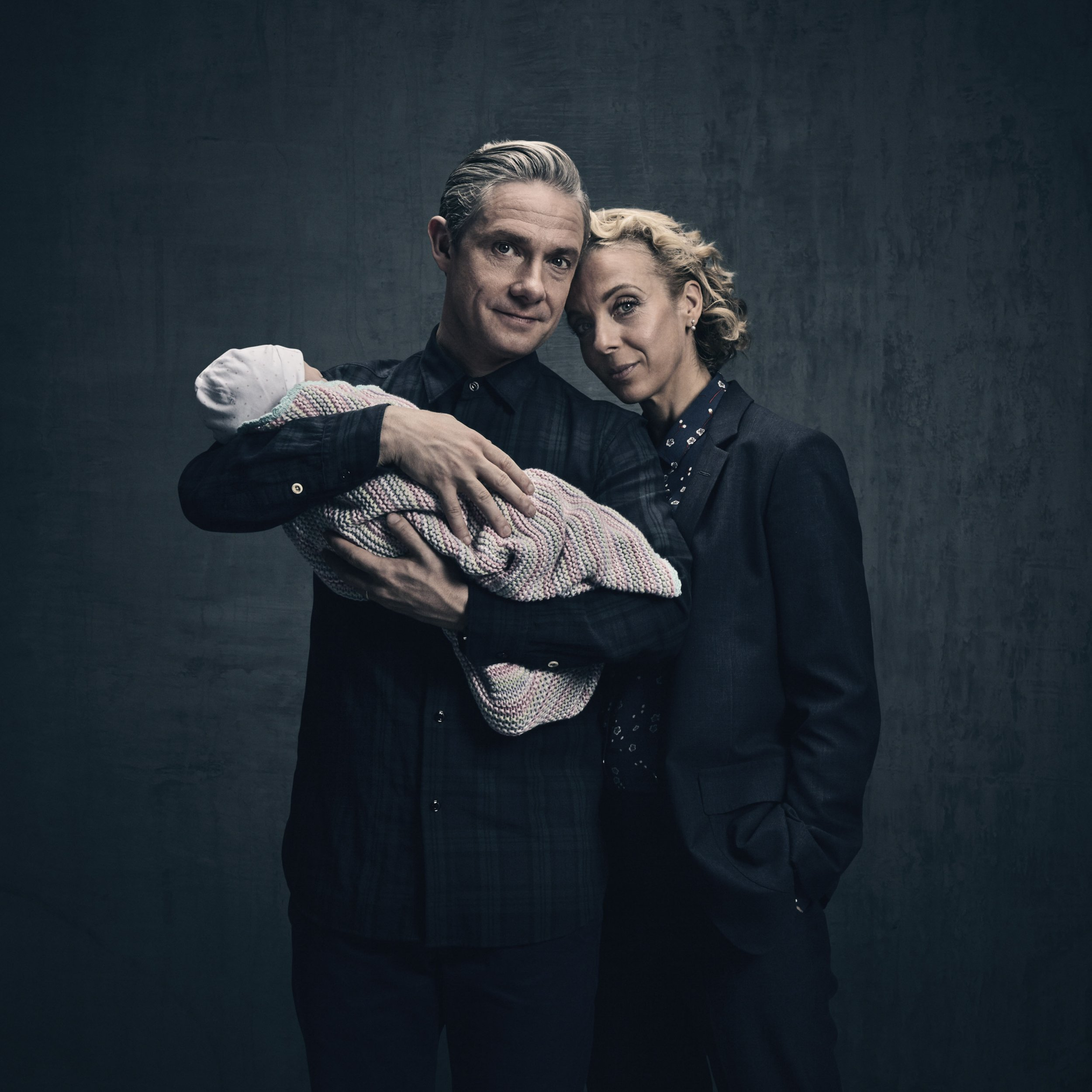 Sherlock - Martin Freeman and Amanda Abbington