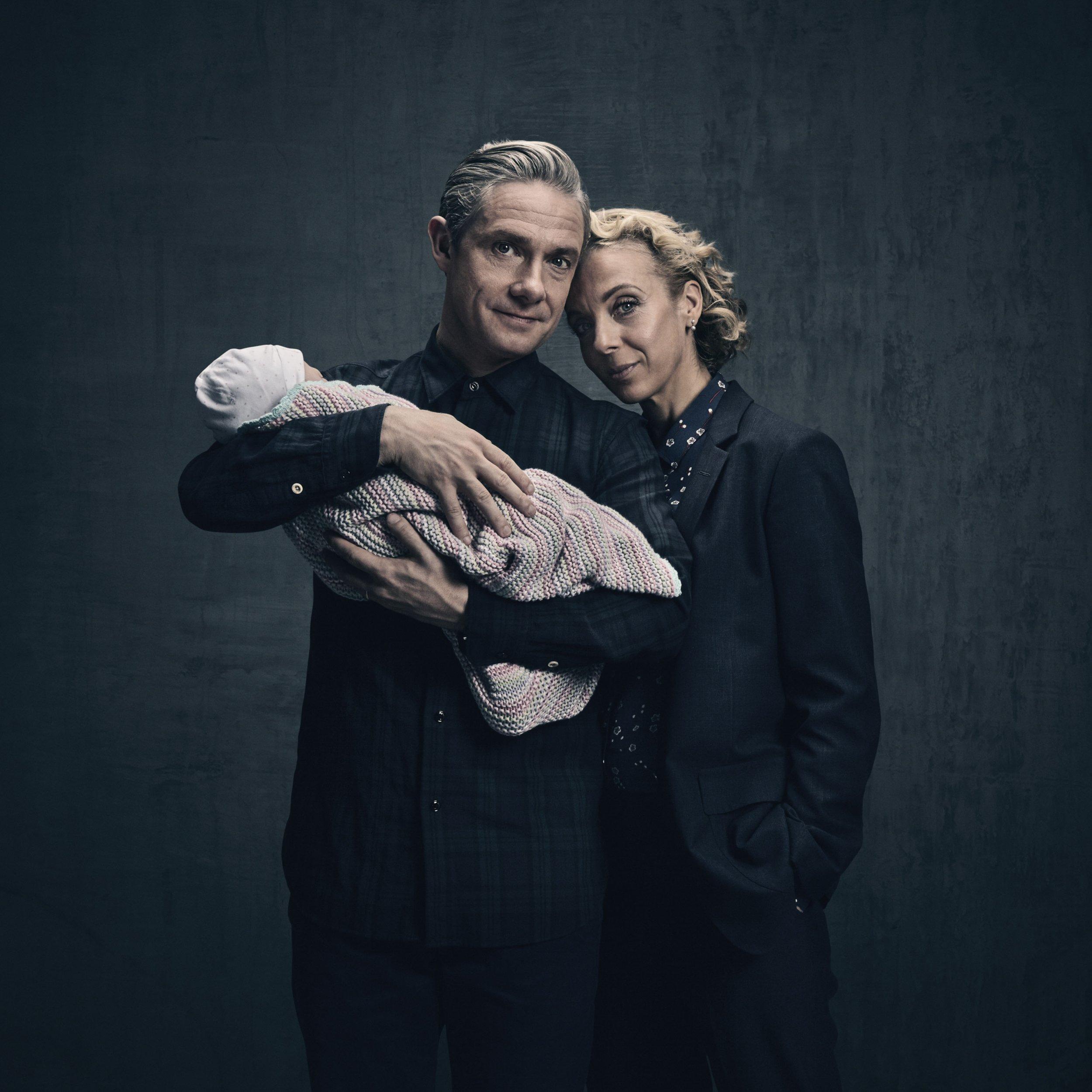 Sherlock - Martin Freeman and Amanda Abbington