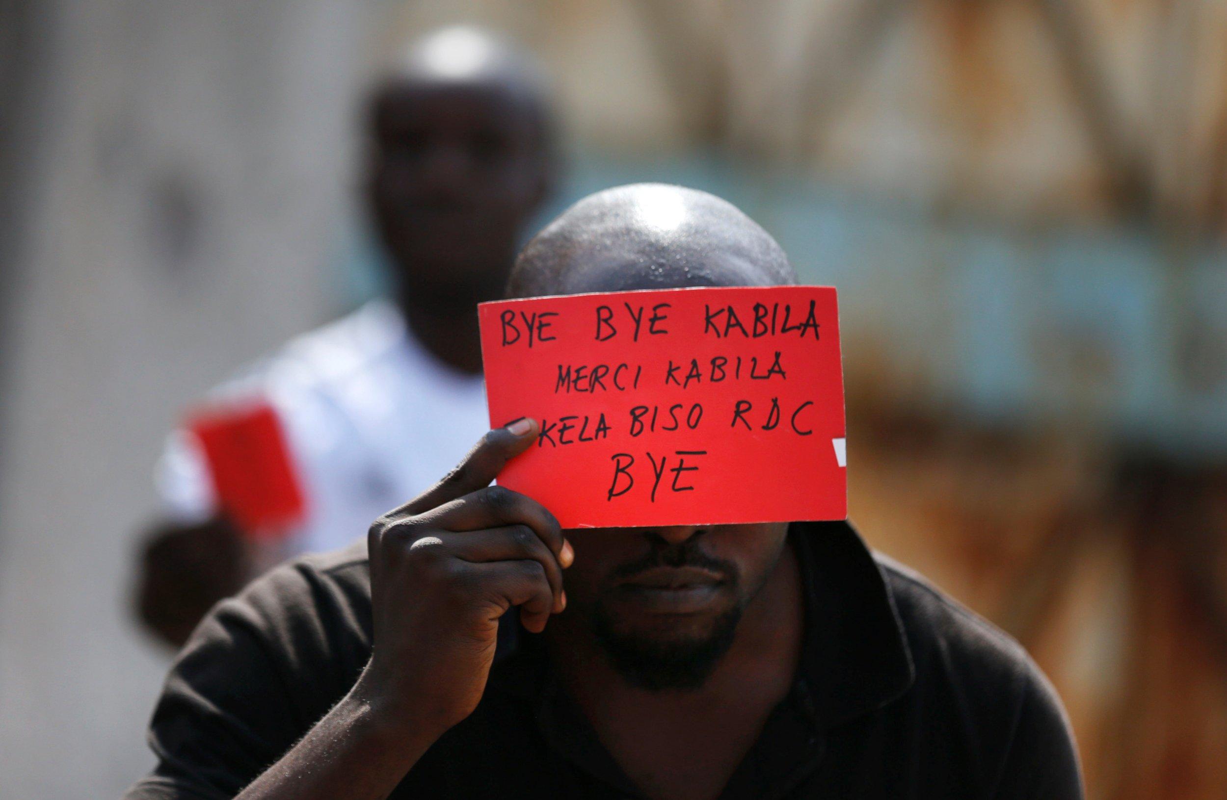 Congo protester