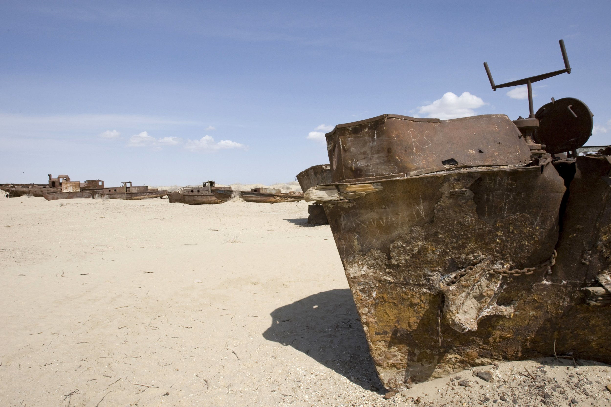 Muynak, a former port on the Aral Sea