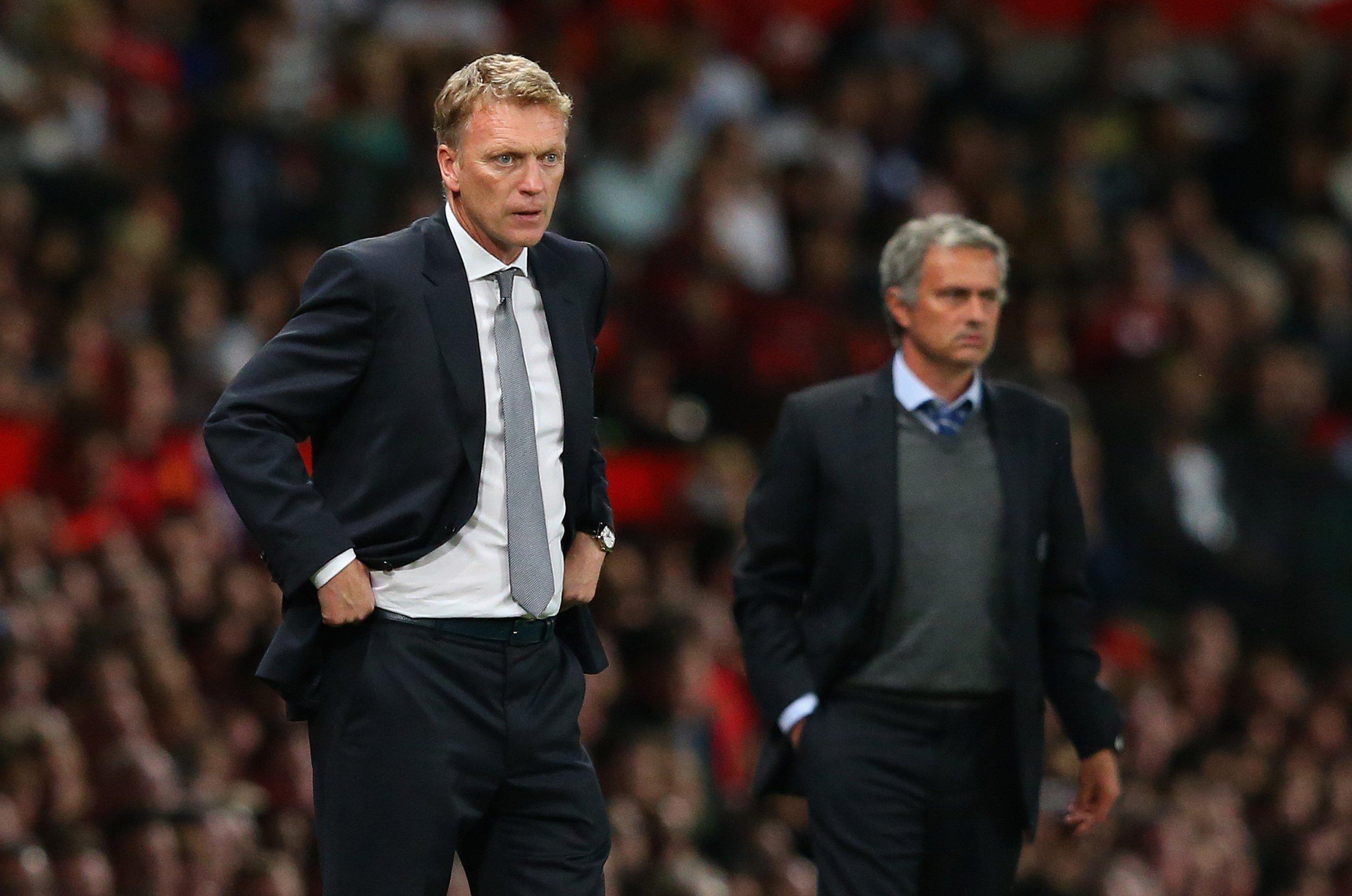 David Moyes, left, with Jose Mourinho
