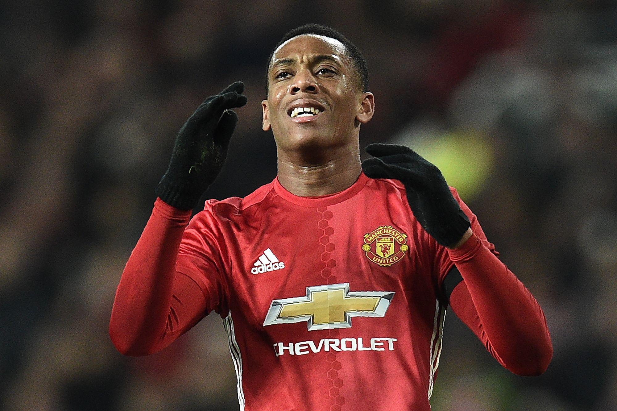 Manchester United striker Anthony Martial.