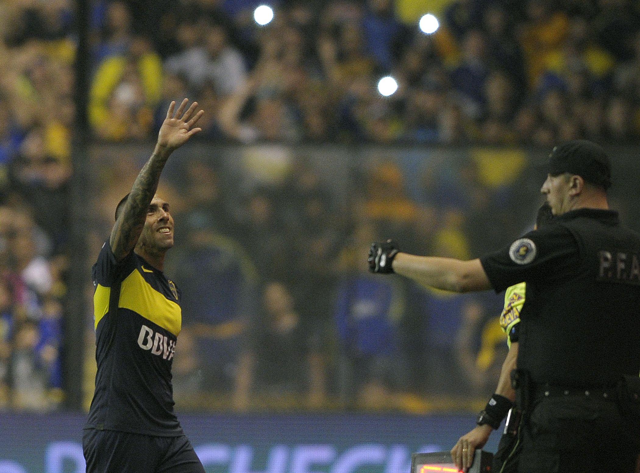 Argentinian striker Carlos Tevez