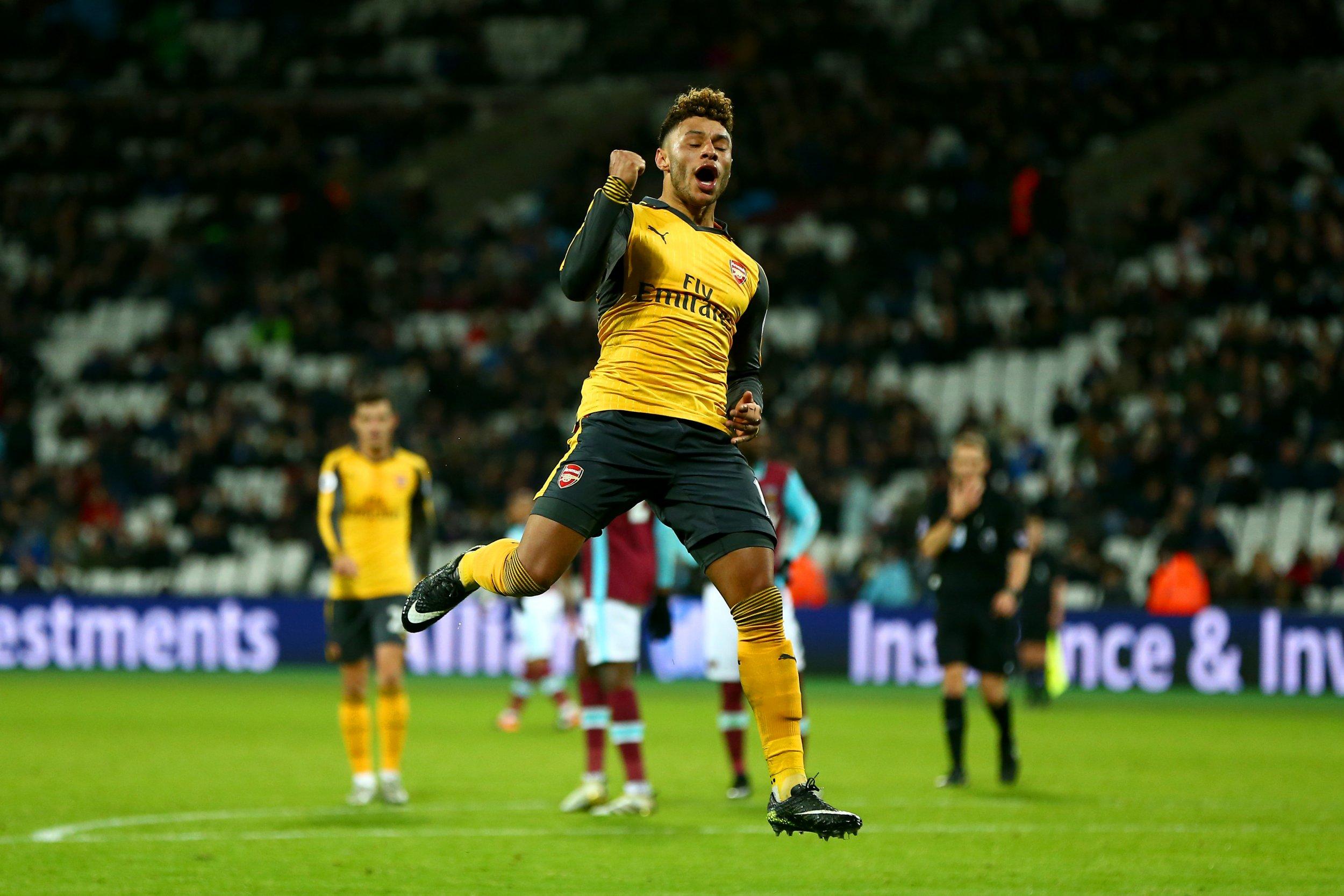 Arsenal midfielder Alex Oxlade-Chamberlain.