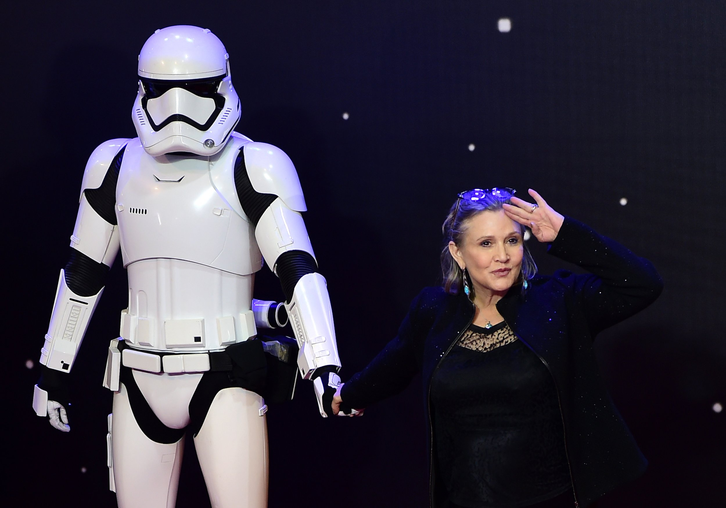 Carrie Fisher stormtrooper