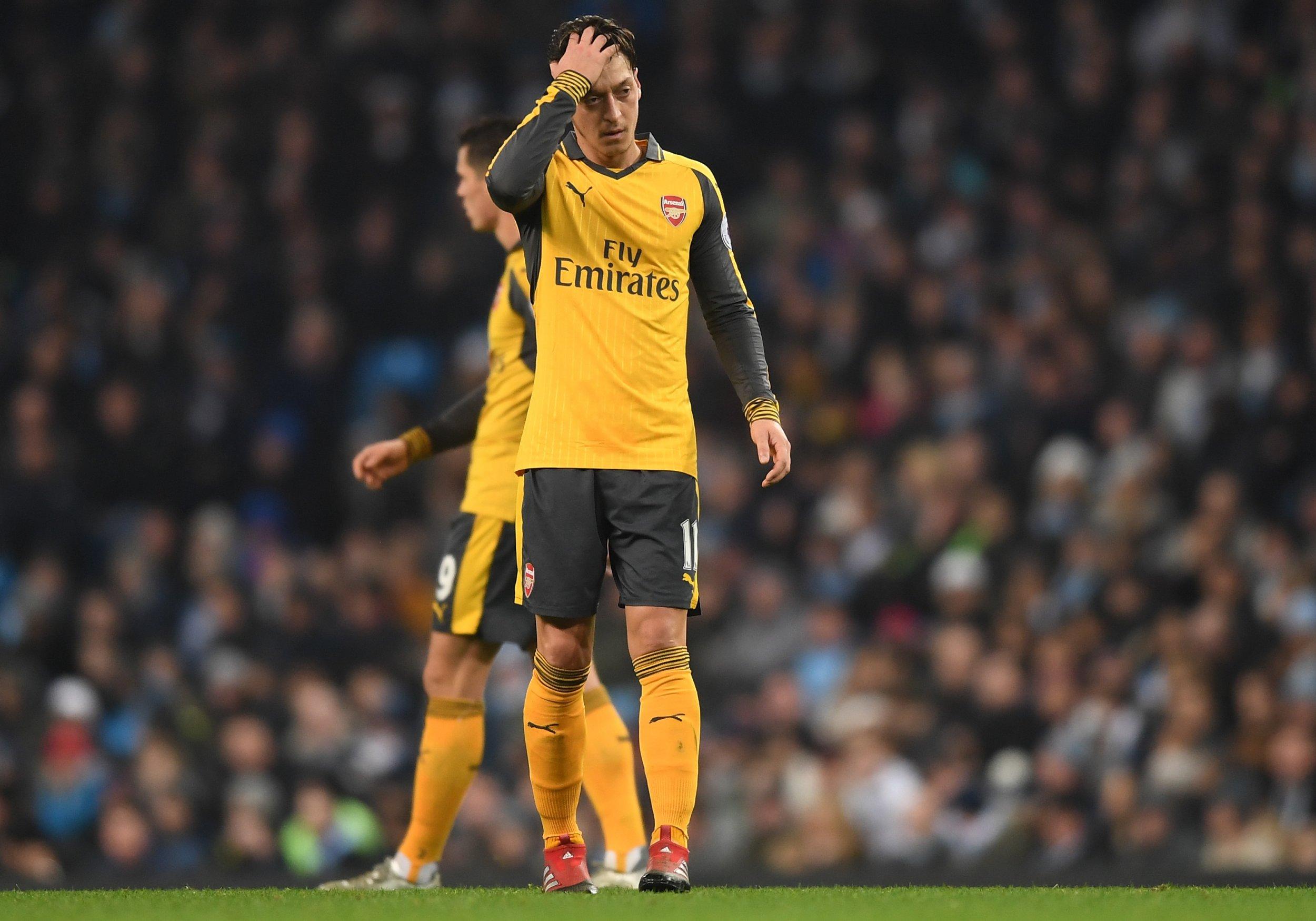Arsenal midfielder Mesut Ozil.