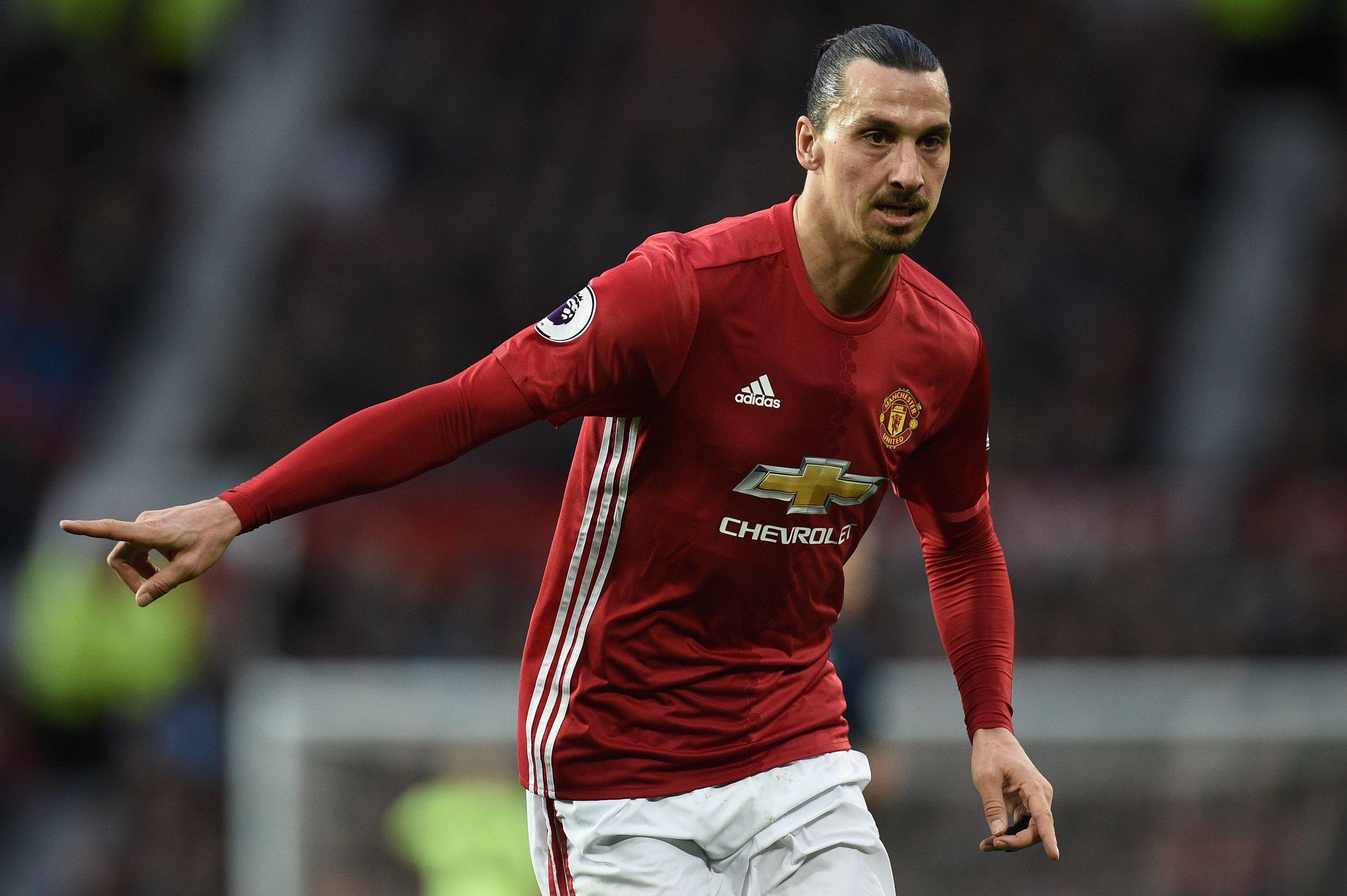 Manchester United striker Zlatan Ibrahimovic.