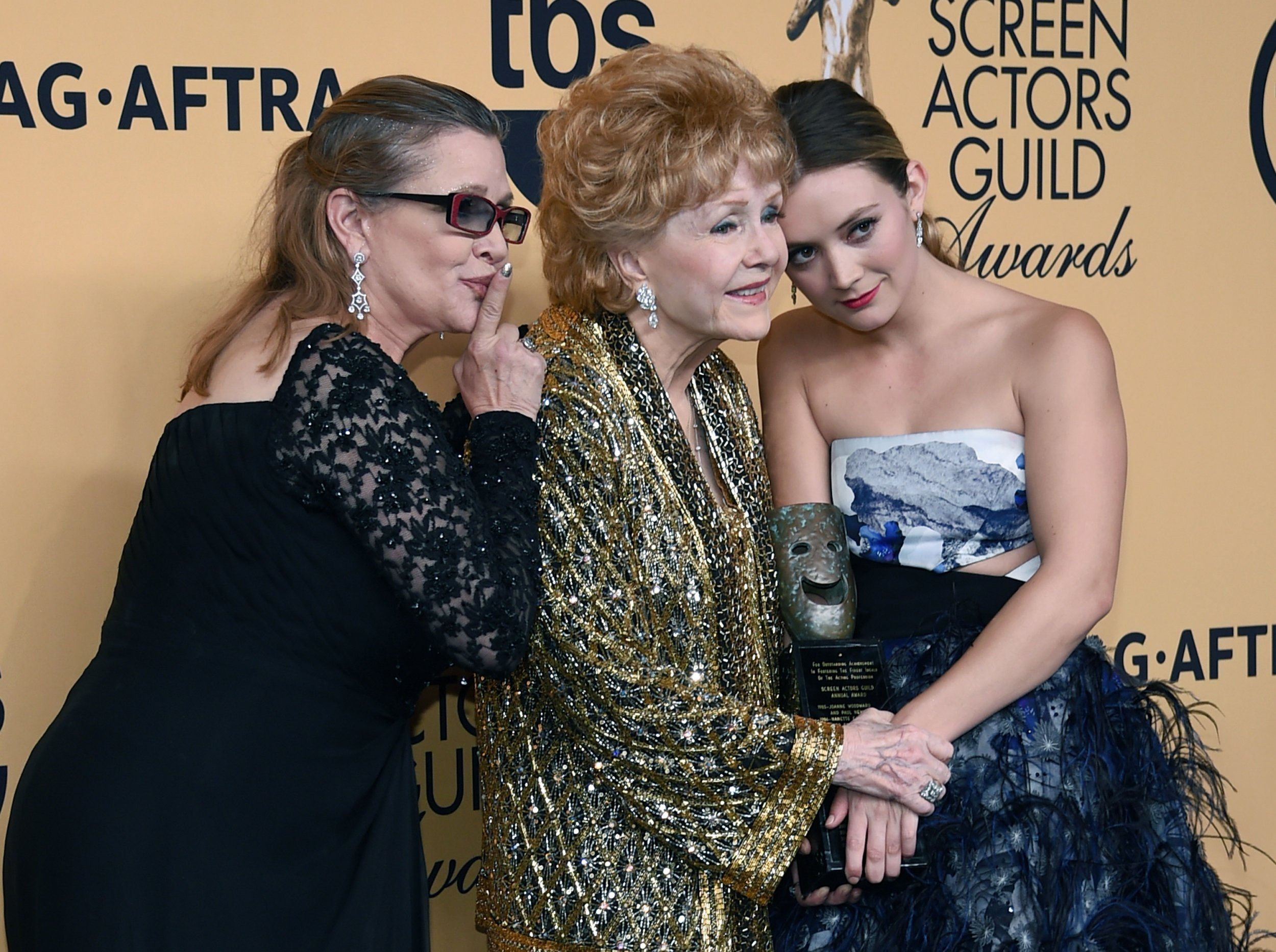 Carrie Fisher, Debbie Reynolds and Billie Lourd