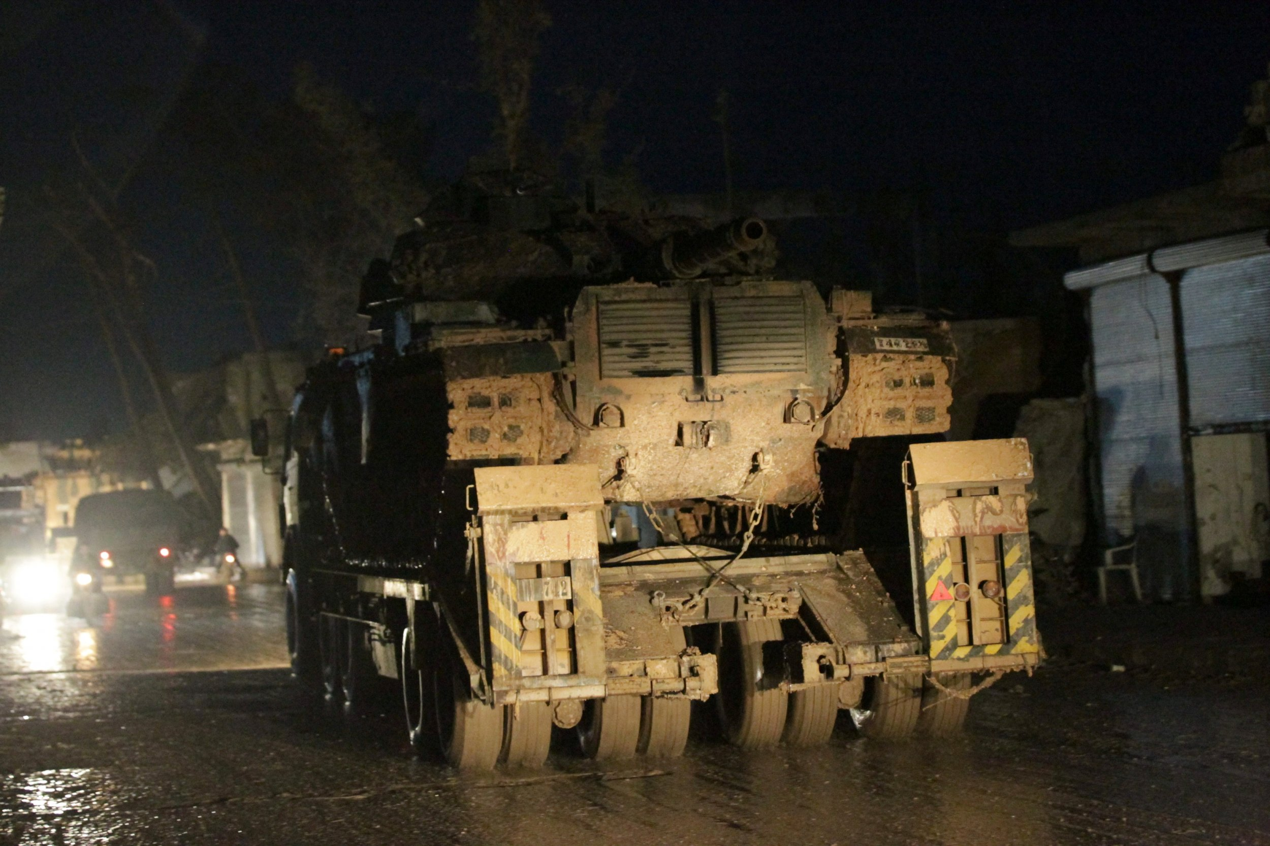 Turkish military vehicles in Syria