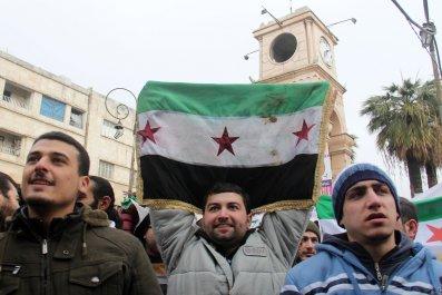 Syrian rebel protester