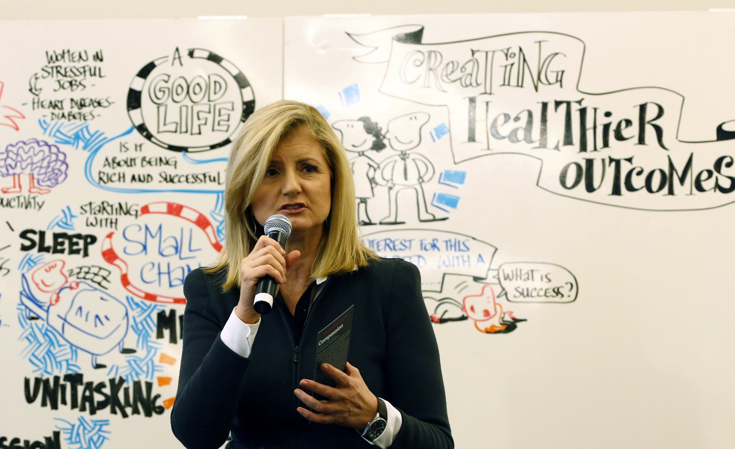 pictures Arianna Huffington bedtime ritual experiment