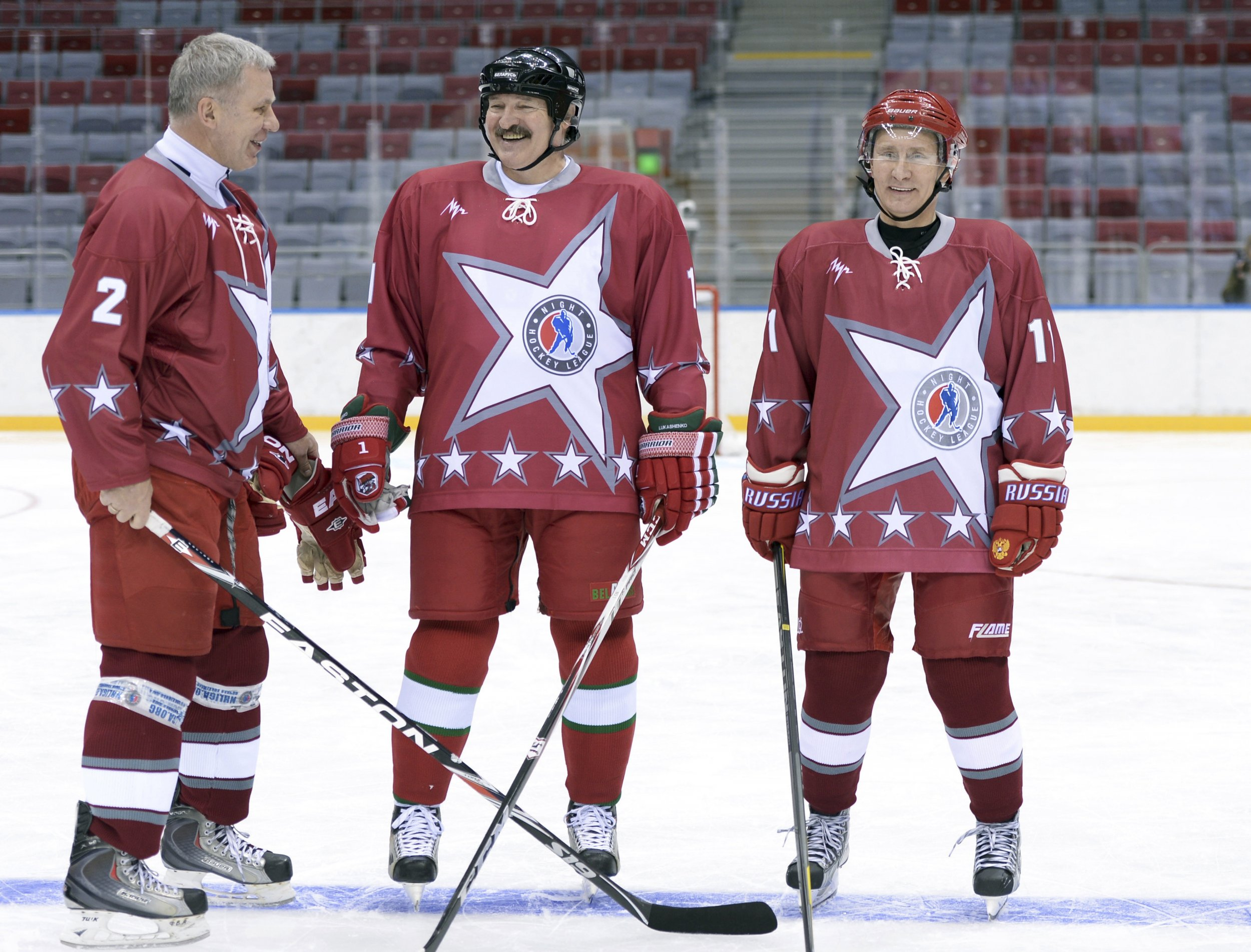 Lukashenko Putin hockey