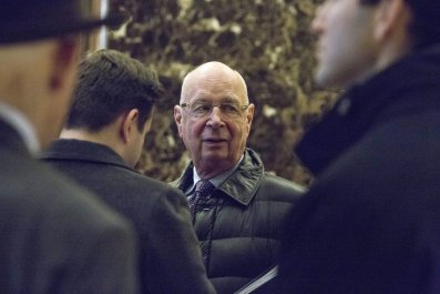Klaus Schwab and Trump