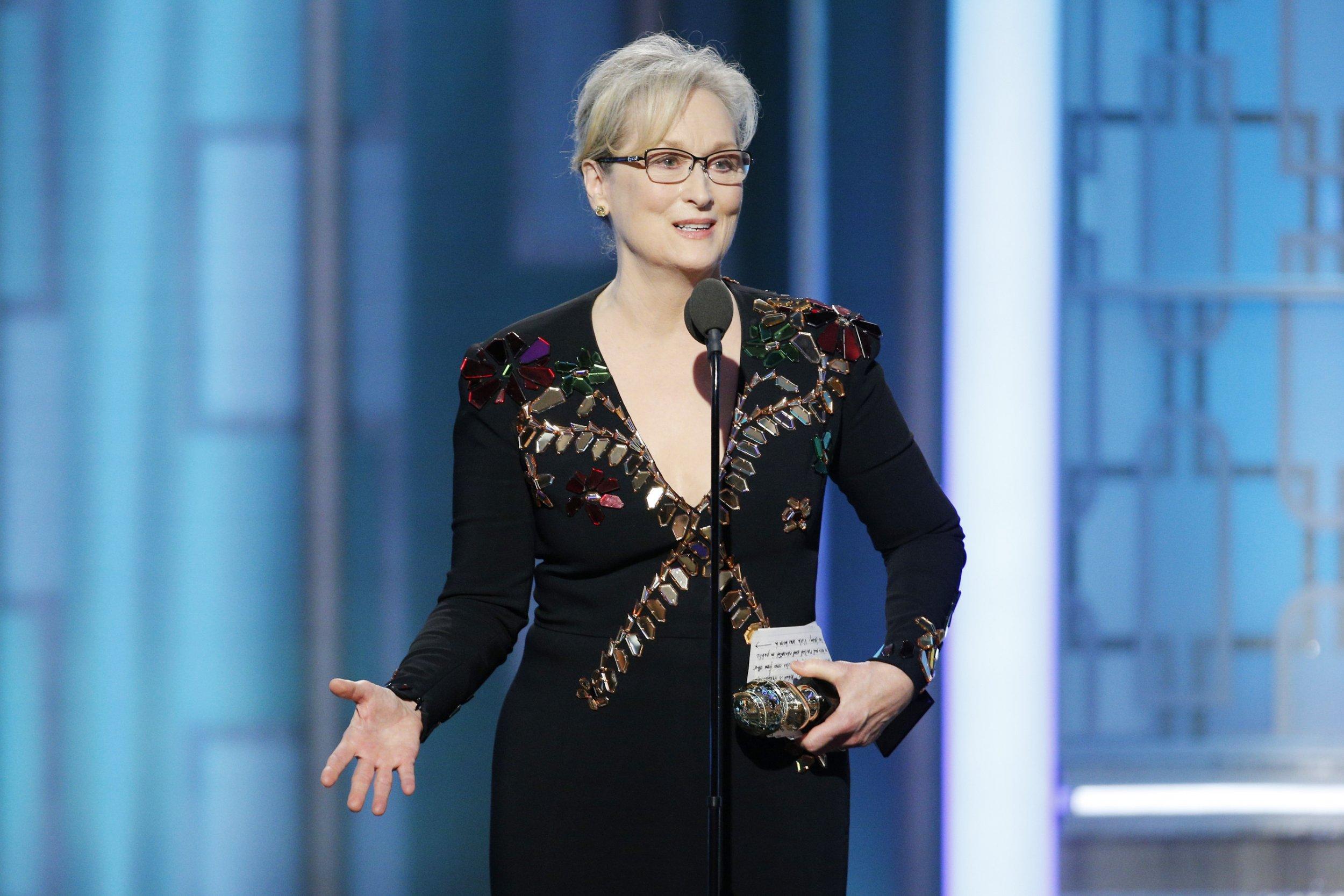 Meryl Streep at Golden Globes