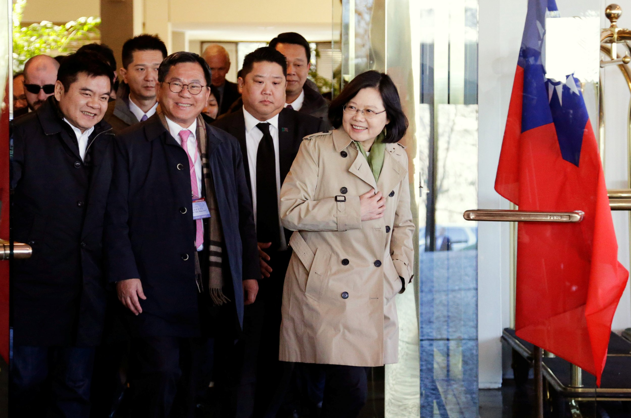 Taiwan President Tsai Ing-wen in Houston, Texas