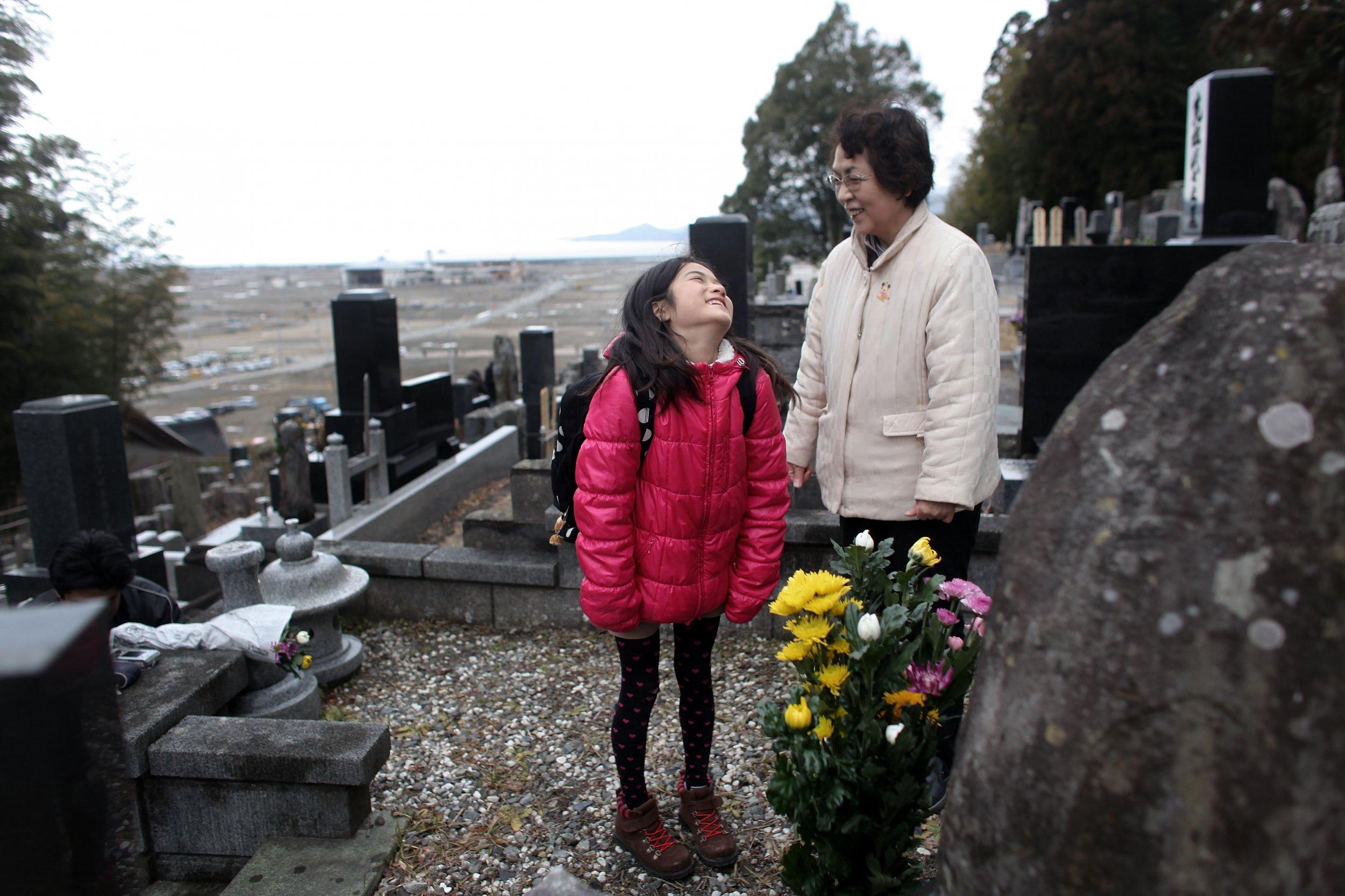 Nina Kanno jokes around with her grandmother Mieko Kanno